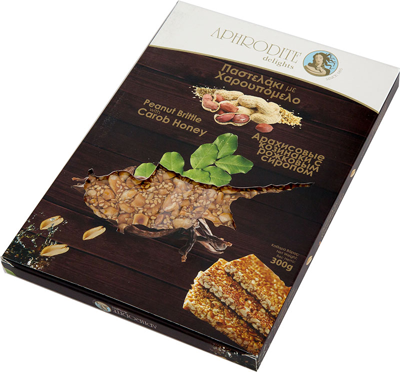 Peanut brittle 300g pack map