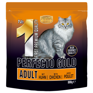 Perfecto cat gold with chicken