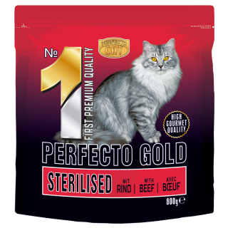Perfecto sterilized cat gold with beef