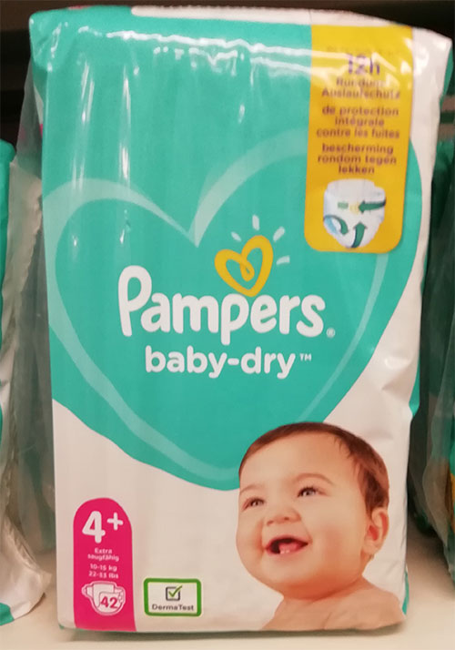 Pampers Baby Dry 4+