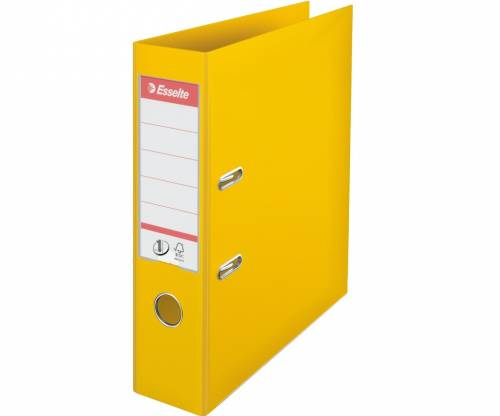 ESSELTE BOX FILE 75MM F/SC YELLOW 48081