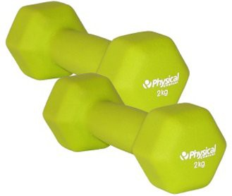 Physical Neo-Hex Dumbell Pair (2 x 2kg)