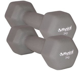 Physical Neo-Hex Dumbell Pair (2 x 3kg)