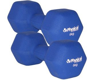 Physical Neo-Hex Dumbell Pair (2 x 6kg)