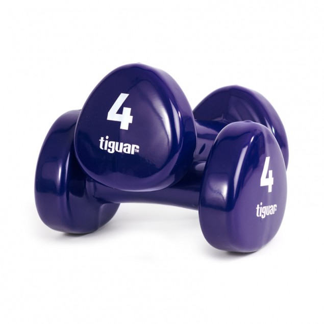 Tiguar Vinyl Dumbbells 4kg (Pair)